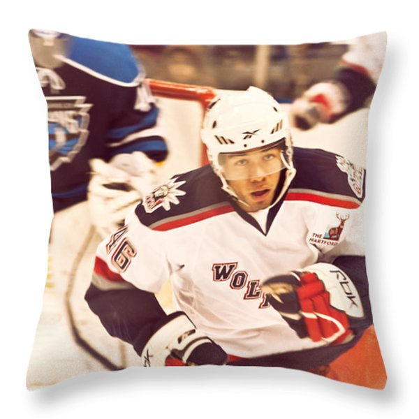 In The Play Throw Pillow by Karol Livote