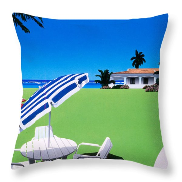 In The Shade Throw Pillow by David Holmes