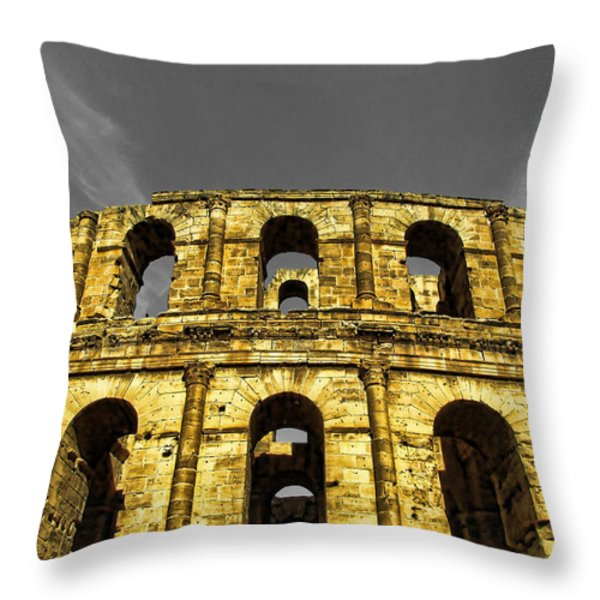 in the shade of time Throw Pillow by Dhouib Skander