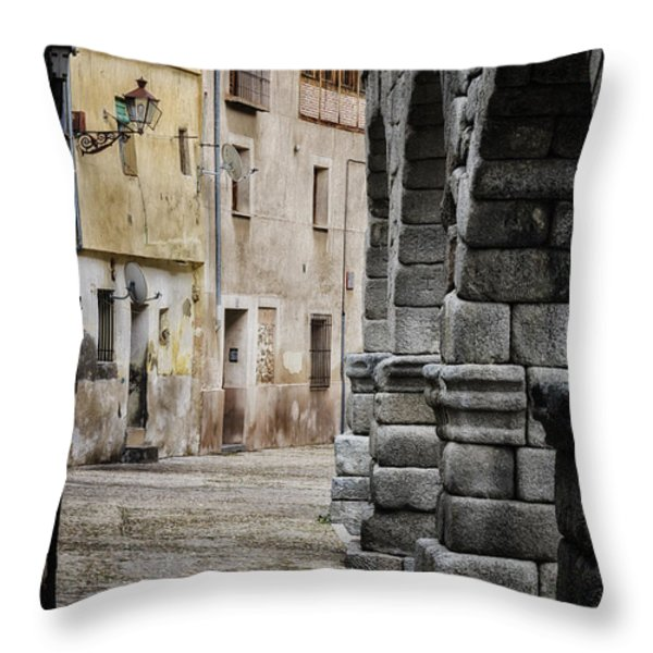 In The Shadow Throw Pillow by Joan Carroll