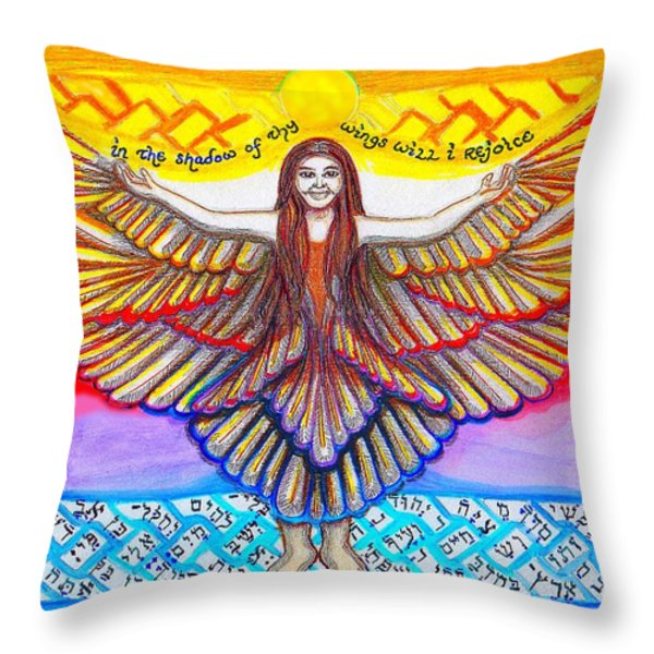 In The Shadow Of Thy Wings Psalms Throw Pillow by Hidden  Mountain