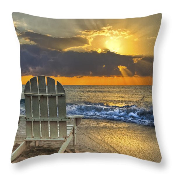 In The Spotlight Throw Pillow by Debra and Dave Vanderlaan