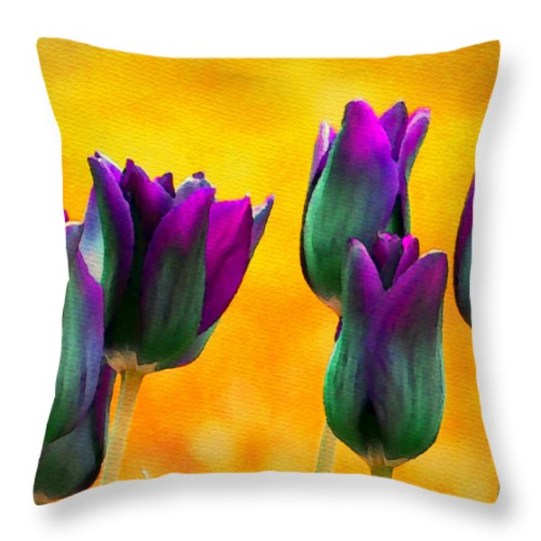 In the Sunshine Throw Pillow by Moon Stumpp