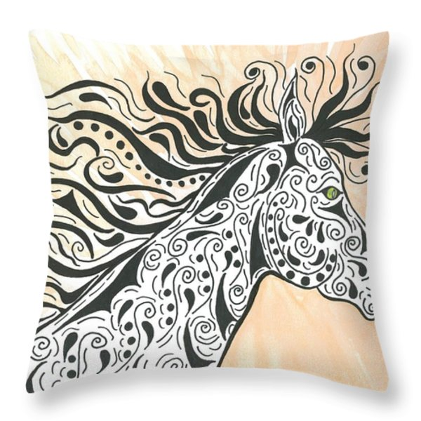 In The Wind Throw Pillow by Susie WEBER