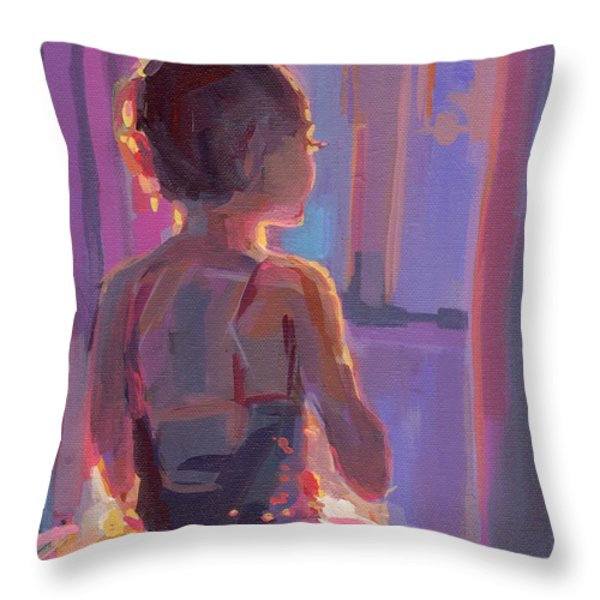 In The Wings Throw Pillow by Kimberly Santini