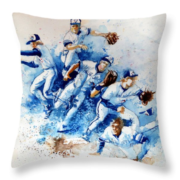 In The Zone Throw Pillow by Hanne Lore Koehler
