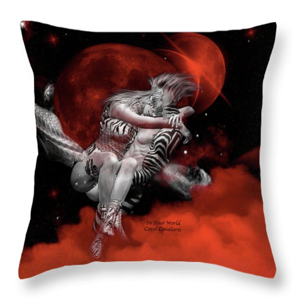 In Your World Throw Pillow by Carol Cavalaris