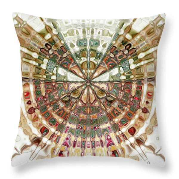 Incan Abstraction Throw Pillow by Amanda Moore