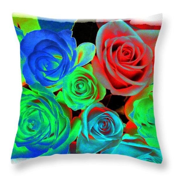 Incandescent Roses Throw Pillow by Will Borden