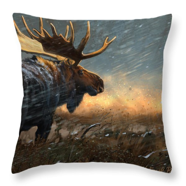 Incoming Throw Pillow by Aaron Blaise