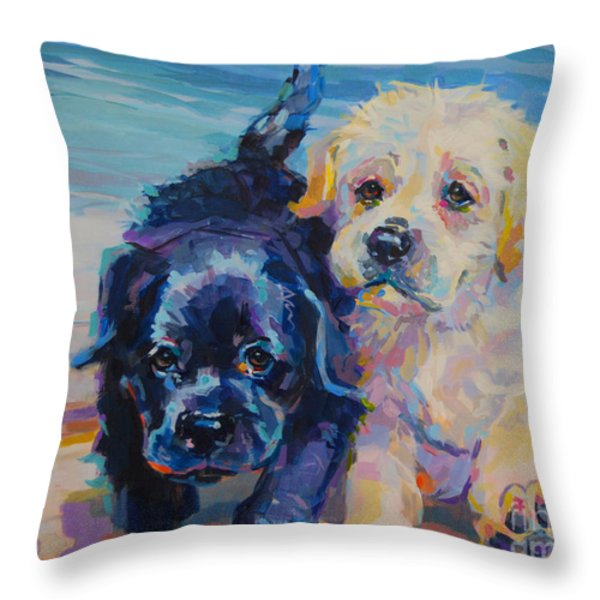 Incoming Throw Pillow by Kimberly Santini