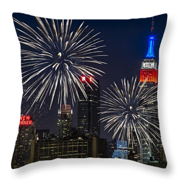 Independence Day Throw Pillow by Eduard Moldoveanu