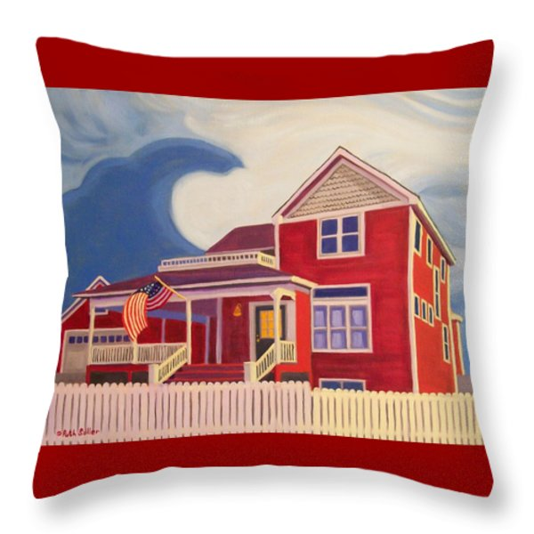 Independence Day Throw Pillow by Ruth Soller