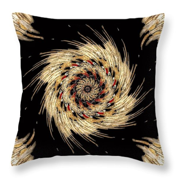 Indian Dance Throw Pillow by Michael Damiani