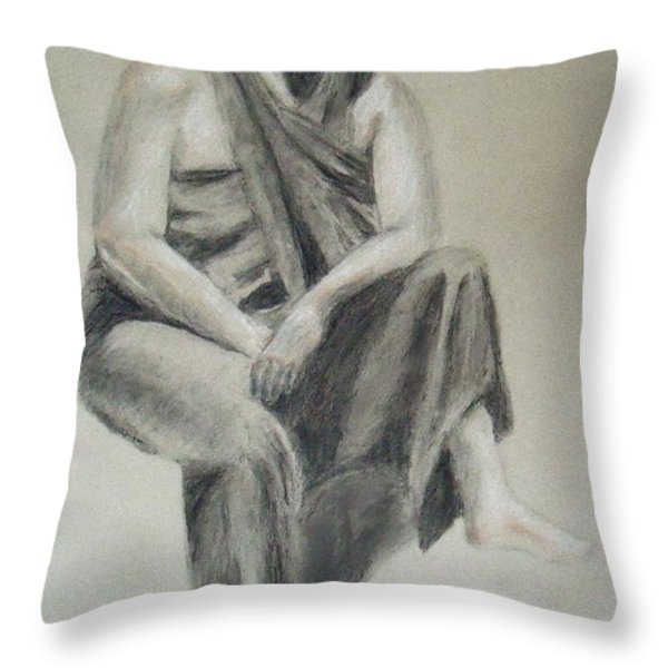 Indian Throw Pillow by Jessica Sanders