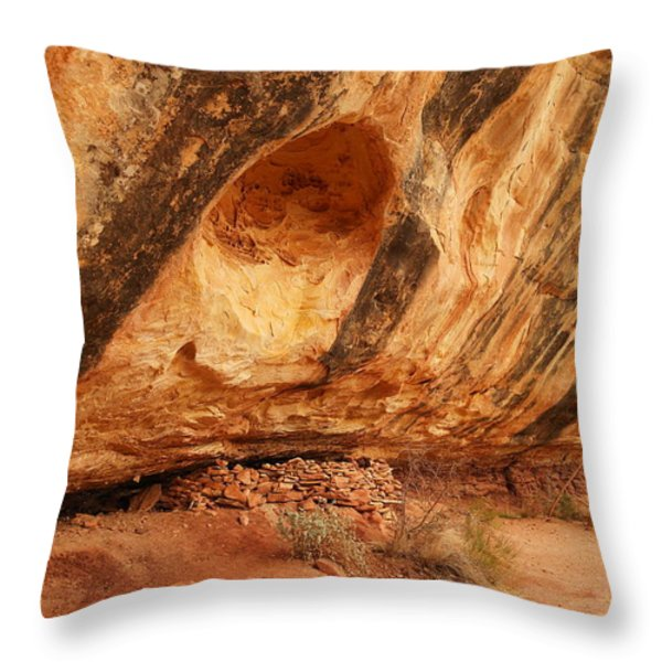Indian Ruins  Throw Pillow by Jeff Swan
