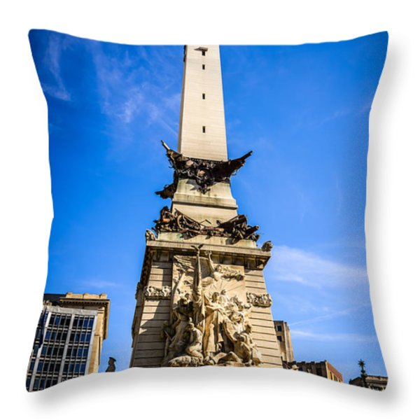 Indianapolis Indiana Soldiers And Sailors Monument Picture Throw Pillow by Paul Velgos