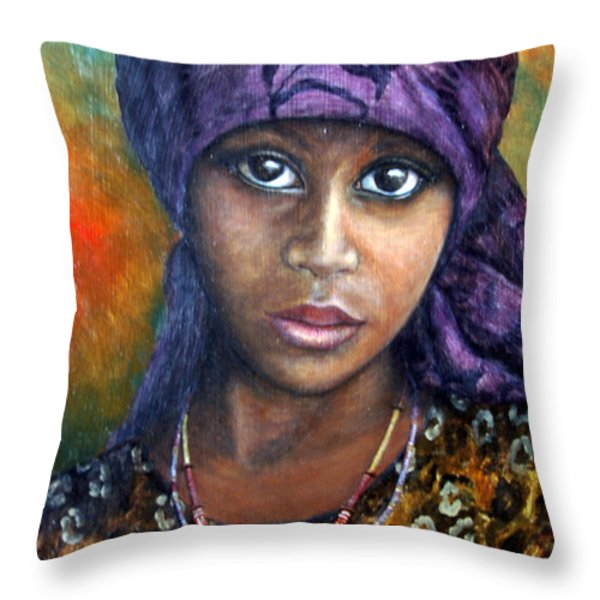 Indigo Dreams Throw Pillow by Joey Nash