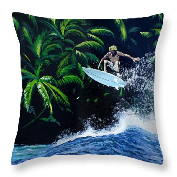 Indonesia Throw Pillow by Chikako Hashimoto Lichnowsky