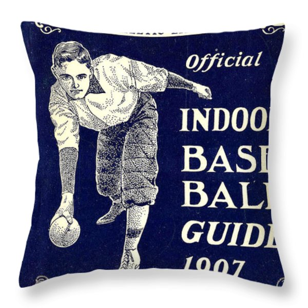 Indoor Base Ball Guide 1907 Throw Pillow by American Sports Publishing