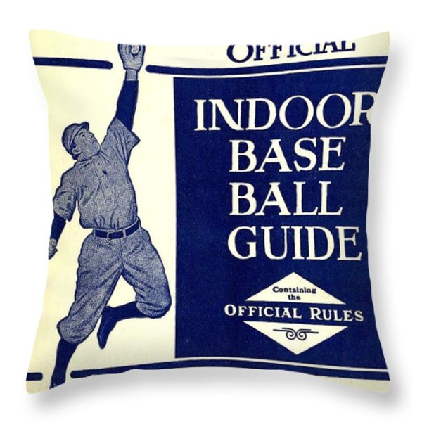 Indoor Base Ball Guide 1907 II Throw Pillow by American Sports Publishing