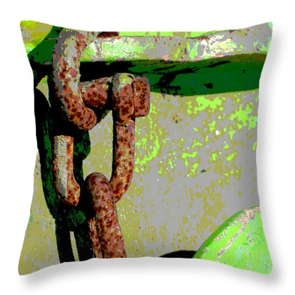Industrial Chain Pop Art Throw Pillow by Adspice Studio