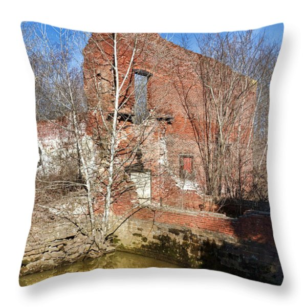 Industrial Ghost Throw Pillow by Olivier Le Queinec