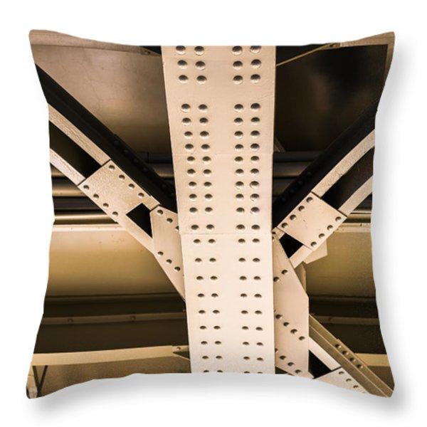 Industrial Metal Throw Pillow by Alexander Senin