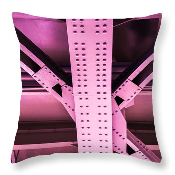 Industrial Metal Purple Throw Pillow by Alexander Senin