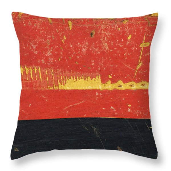 Industrial Rustic Abstract Throw Pillow by Anahi DeCanio