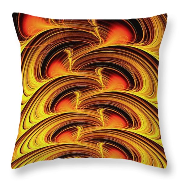 Inferno Throw Pillow by Anastasiya Malakhova