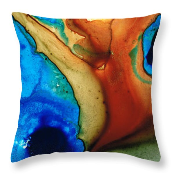 Infinity Of Life Throw Pillow by Sharon Cummings