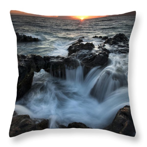 Influx Throw Pillow by Mike  Dawson
