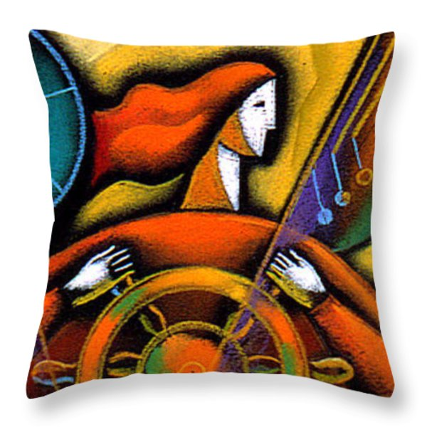 Information Throw Pillow by Leon Zernitsky