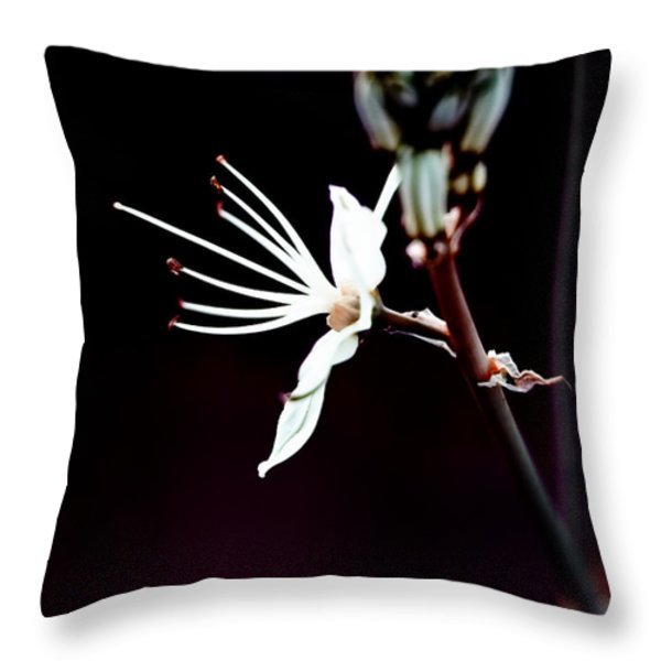infrared Asphodel Throw Pillow by Stylianos Kleanthous