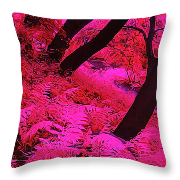 Infrared Fern Garden Throw Pillow by Bill Caldwell -        ABeautifulSky Photography