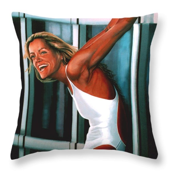 Inge De Bruin 2 Throw Pillow by Paul Meijering