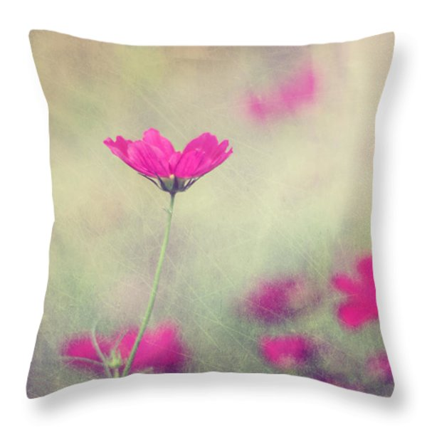 Ingrid's Garden Throw Pillow by Amy Tyler