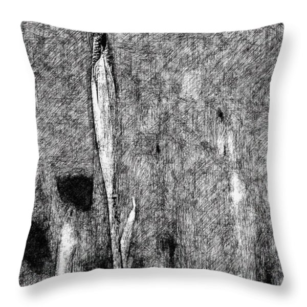Ink Iris Throw Pillow by Yevgeni Kacnelson