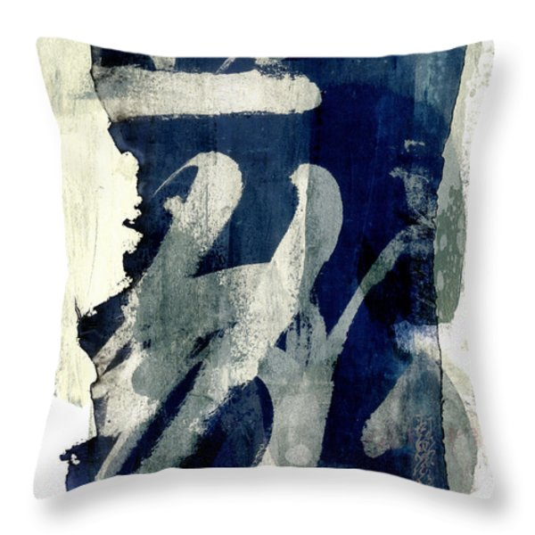 Inked Painted and Torn Throw Pillow by Carol Leigh