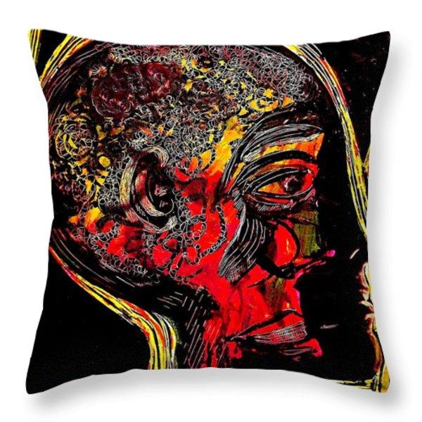 Inner Man Throw Pillow by Sarah Loft