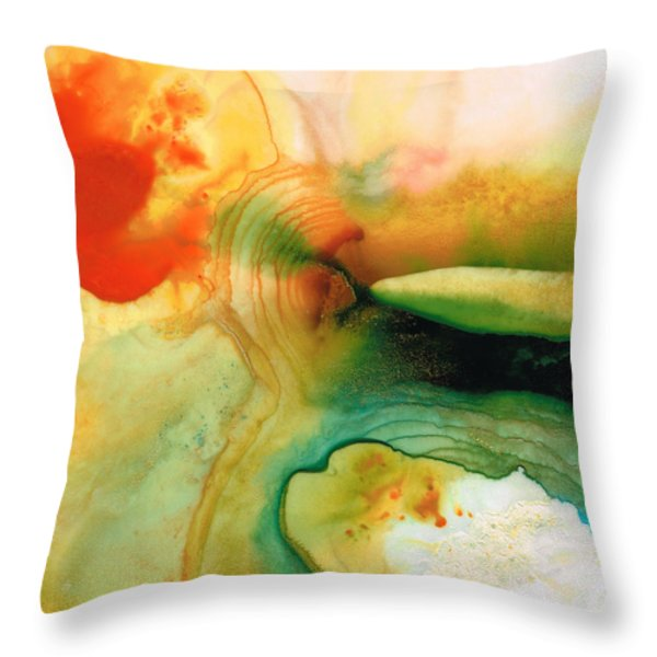 Inner Strength - Abstract Painting By Sharon Cummings Throw Pillow by Sharon Cummings