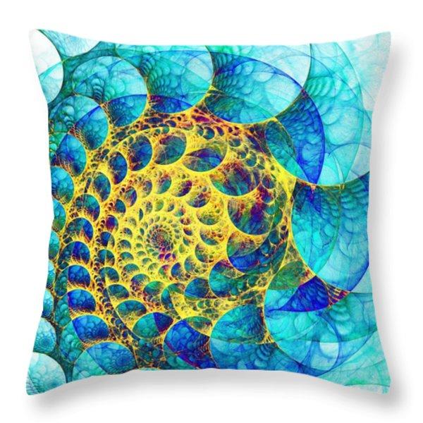 Inner Structure Throw Pillow by Anastasiya Malakhova