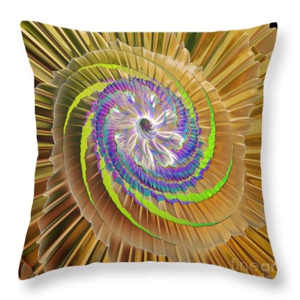Inner Twister Throw Pillow by Deborah Benoit