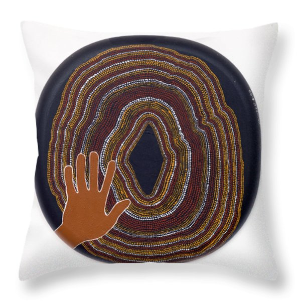 Inner Worlds Throw Pillow by Howard Charing