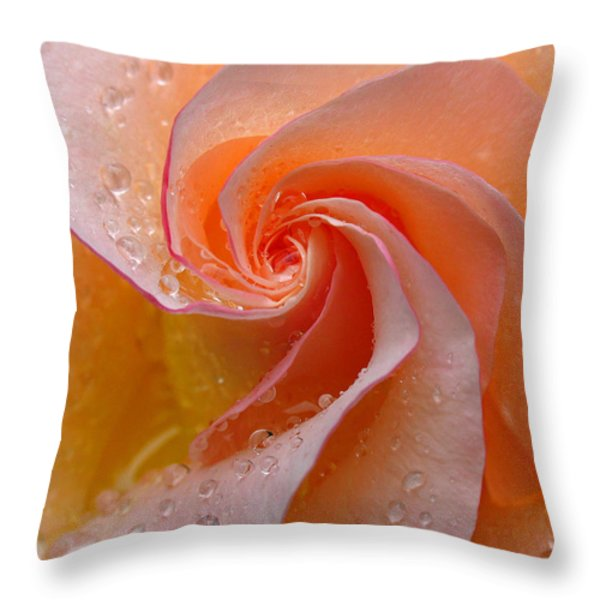 Innocent Beauty Throw Pillow by Juergen Roth