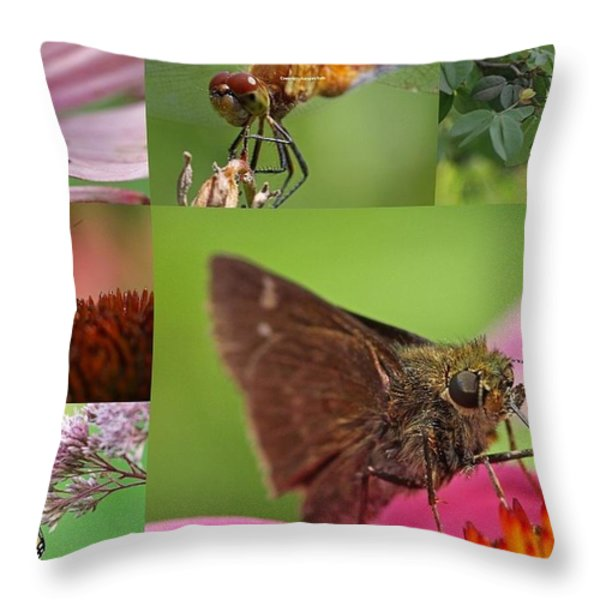 Insect Macro Photography Art Throw Pillow by Juergen Roth