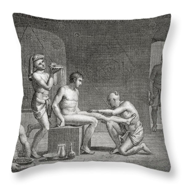 Inside An Egyptian Bathhouse, C.1820s Throw Pillow by Dominique Vivant Denon