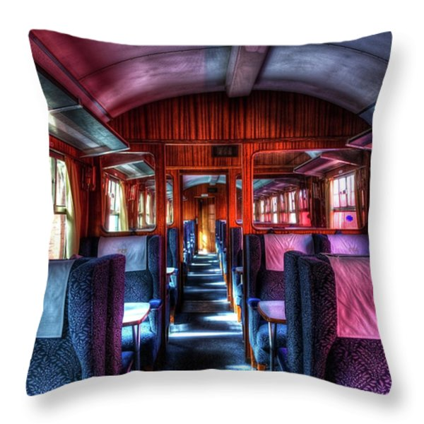 Inside An Old Train Throw Pillow by Svetlana Sewell