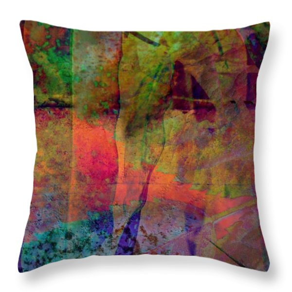 Inside Autumn Throw Pillow by Shirley Sirois